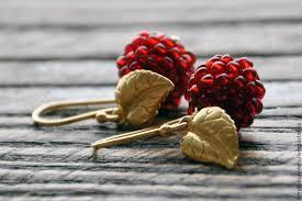 Серебряные <b>позолоченные серьги</b> ягоды Малина – купить на ...