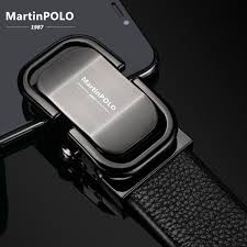 <b>MartinPOLO</b> New Arrival <b>men's</b> leather belt luxury <b>Automatic Buckle</b> ...