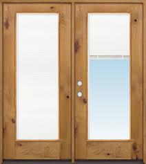 home improvement alder wood full lite mini blind knotty alder wood entry door kwmb right hand door