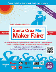 sp the word our event poster santa cruz mini maker faire scmmf flyer