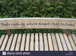 an alexander pope quote from an essay on criticism on a bench in stock photo an alexander pope quote from an essay on criticism on a bench in twickenham middlesex england