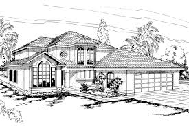 Spanish Style House Plans   Spanish House Plans   Spanish Style    Spanish Style House Plan   Villa Real     Front Elevation