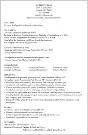 resume examples umd sample resume meredith bear