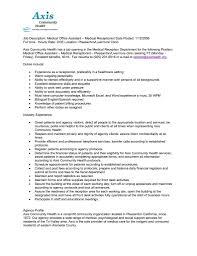 medical assistant duties for resume getessay biz job description medical office assistant medical receptionist for medical assistant duties for