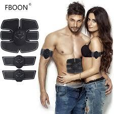 Body Slimming Shaper Machine TENS <b>Electronic</b> Abdominal Trainer ...