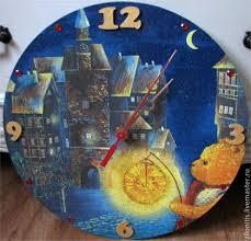 <b>Часы</b> настенные для детской. Художественный декупаж. <b>Мишка</b> ...