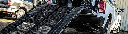Pickup Truck Loading Ramps   <b>Folding</b>, Arched, <b>Aluminum</b>, Dock ...