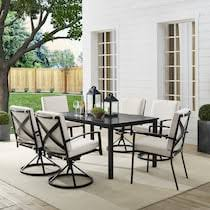 Clarion Outdoor Dining Table, 4 <b>Swivel</b> Chairs and <b>2 Dining Chairs</b> ...