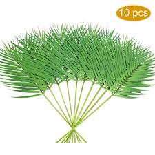 PANTINUE <b>10 Pcs Artificial</b> Tropical Areca <b>Palm</b> Leaves Stems Faux ...