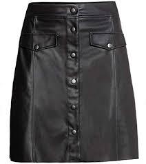 Luxury <b>Genuine Leather</b> Custom Made Lady Button Up Mini <b>Skirt</b> ...