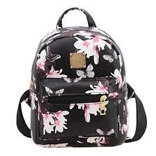 Kemilove Women Girls Floral <b>Printing</b> PU Leather Shoulder <b>Bag</b> ...
