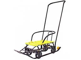 Купить <b>санки</b>-коляску <b>Snow Galaxy</b> Black Auto желтые по цене от ...