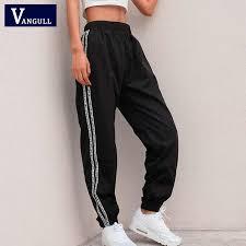Vangull Women Jogger Pants <b>2019</b> Spring Letter Side Stripe ...