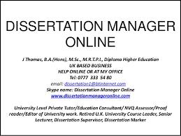 Dissertation consultant uk  DISSERTATION