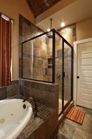 bathroom shower tile design color combinations: slate bathroom ideas slate tile shower bath combo wall color