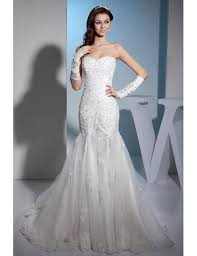 Lace <b>Sweetheart Sexy Mermaid Tulle</b> Wedding Dress #OPH1373 ...