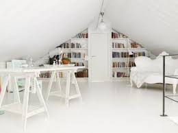 view in gallery bright and airy attic home office attic office ideas
