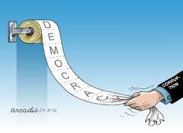 Resultado de imagen de humor  democracia