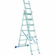 <b>Лестница трехсекционная</b> алюминиевая СИБРТЕХ <b>3 х 11</b> ступеней