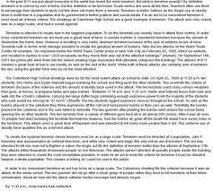 ba english essay on terrorism  bace world