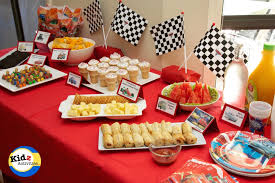 cars party activities birthday kidz buffet spread peaceful ideas