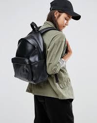 Изображение 3 из Кожаный <b>рюкзак</b> с перфорацией на кармане ...