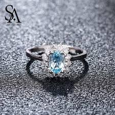 <b>SA SILVERAGE Real 925</b> Sterling Silver Blue Topaz Party fashion ...