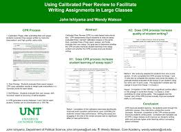 using calibrated peer review to facilitate writing assignments in using calibrated peer review to facilitate writing assignments in large classes side 1 of 1 digital library