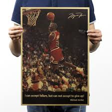 51x35.5cm Kraft Paper Star <b>Michael Jordan</b> Vintage Retro Posters ...