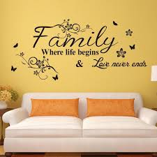 Small Picture Vinyl Wall Art Decal Decor Quote Stickers Family Where Life Begins