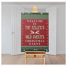 Ugly Sweater Christmas Party Welcome Sign Ugly ... - Amazon.com