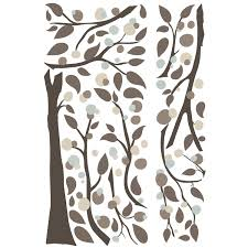 sun wall decal trendy designs: room mates  piece deco mod tree peel and stick giant wall decal set