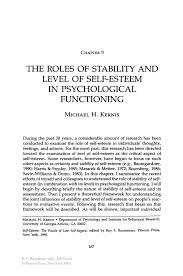 the roles of stability and level of self esteem in psychological inside