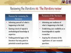 How to Conduct a Literature Review The literature review in a dissertation outline provides a list of secondary sources of research that are related to the dissertation topic