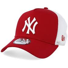 New York Yankees <b>Clean</b> 2 Scarlet/White Trucker - <b>New Era</b> - Start ...