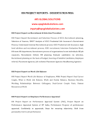 dissertation report in hr for mba hr service objectives essay authorstream