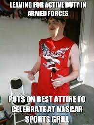 Leaving for active duty in armed forces puts on best attire to ... via Relatably.com
