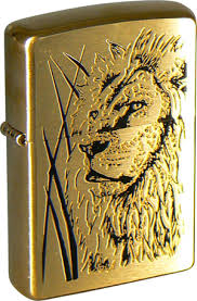 <b>Зажигалка ZIPPO Proud</b> Lion Brushed Brass, латунь, золотистый ...