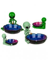 Ashtray <b>Alien</b> With <b>Joint</b>, 1 Piece made of polyresin | horror-shop.com