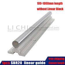 <b>2pcs SBR16</b> 16mm <b>linear rail</b> any length support round <b>guide rail</b> + ...