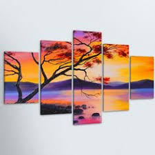 <b>5 Pieces HD</b> Canvas Painting Print Animal And Snow Modular <b>Picture</b>