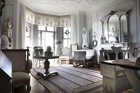 a chic white home