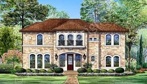 Congressional House Plans   Italian   Home Plans By Archival DesignsCongressional House Plan   House Plan   Luxury   Front Rendering
