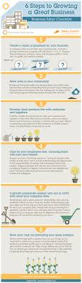6 steps to growing a great business infographic next steps