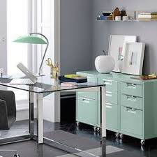 mechanic shop chic powdercoated slick mint two drawers chic mint teal office