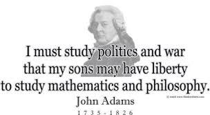 "ThinkerShirts.com presents John Adams and his famous quote ""I must ... via Relatably.com"