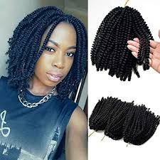 3 Pack <b>Spring Twist Crochet Braiding</b> Hair Ombre Colors Synthetic ...