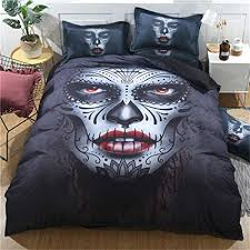 Gothic Girl <b>Fashion</b> Style Bedding Set 3D skull Duvet Cover with 2 ...