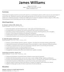dental assistant resume sample com