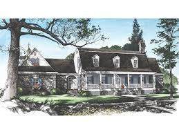 Garrison Colonial Home Plan D    House Plans and MoreCape Cod  amp  New England House Plan Front Image   D    House Plans